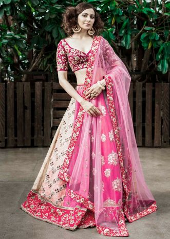 Rakul Preet in Kalki multi-colored raw silk lehenga set in resham work and sequins