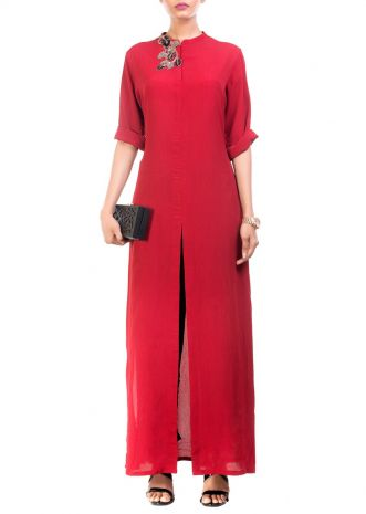 Ox Blood Long Length Tunic