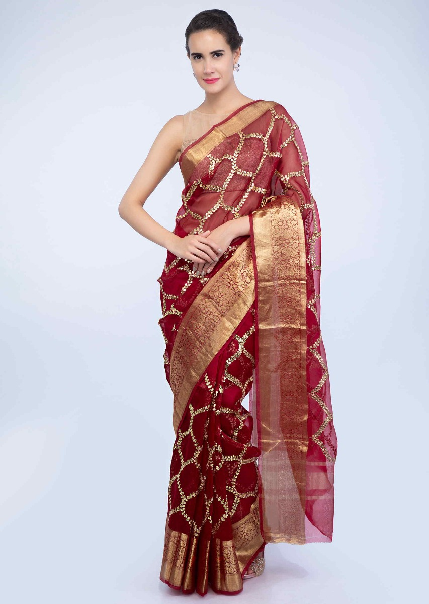 ba0472ad8f Red Saree Golden Blouse « Alzheimer's Network of Oregon