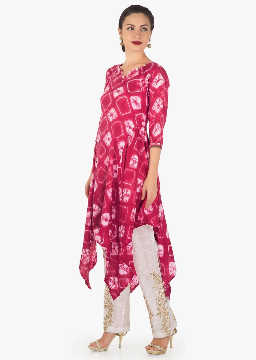 a75e60ddc9 Pink and off white tunic in batik print matched with off white gotta patch  work pants ...