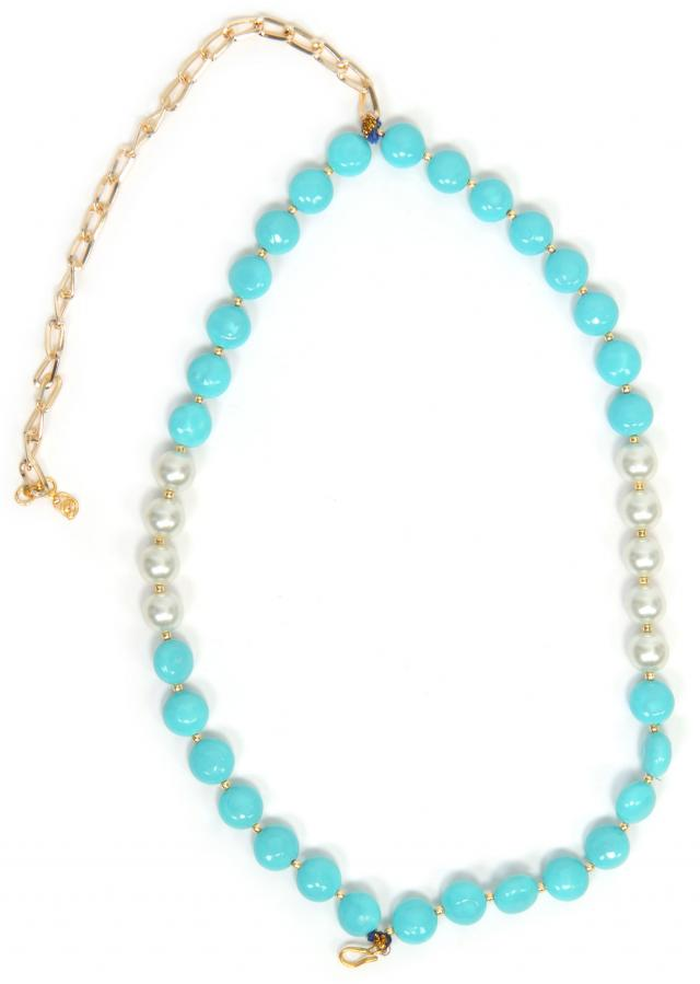 Blue Double Chained Necklace only on Kalki