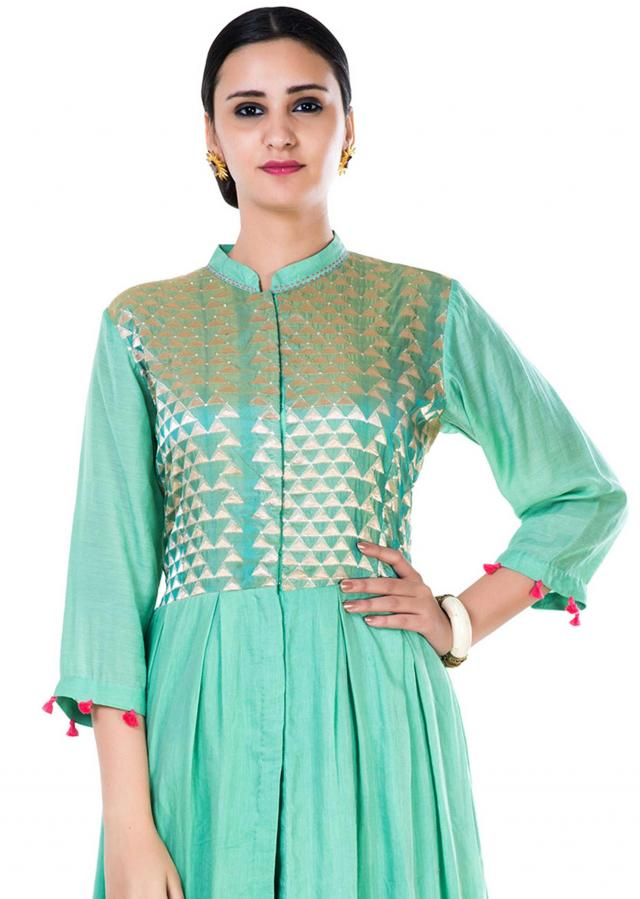 Blush Green Anarkali Suit Set