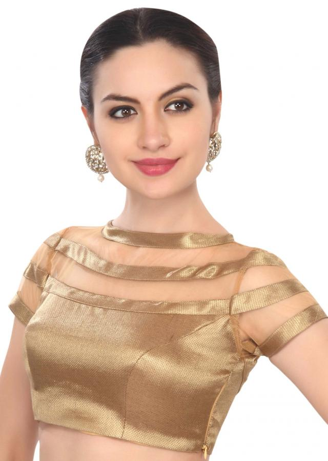 Chic gold diana blouse only on Kalki