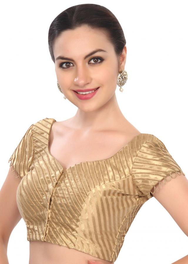 Elegant gold podh handwork blouse only on Kalki