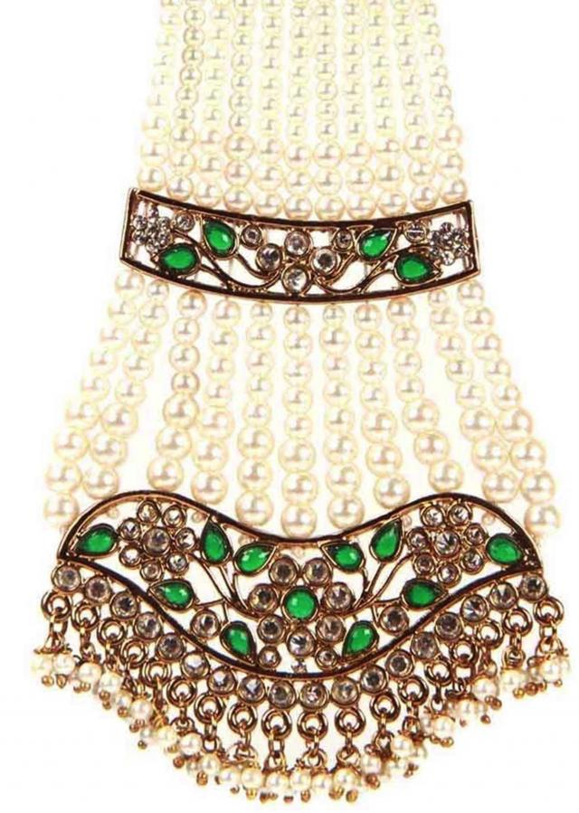 Emerald Mughal Head Gear only on Kalki