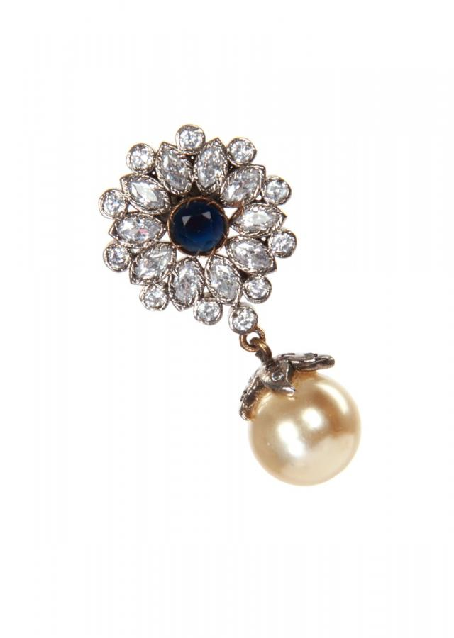 Flower earring with pearl dangler only on Kalki