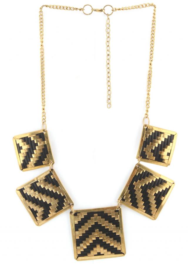 Gold and black necklace featuring in pendent only on Kalki