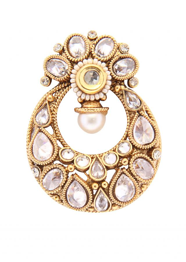 Gold and kundan earring only on Kalki