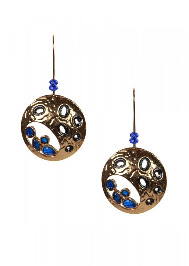 Gold plated earring in cut out only on Kalki