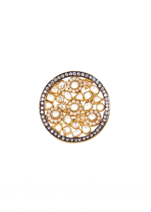 Gold Studs In Geometric Contructions Adorn In Moti only on Kalki