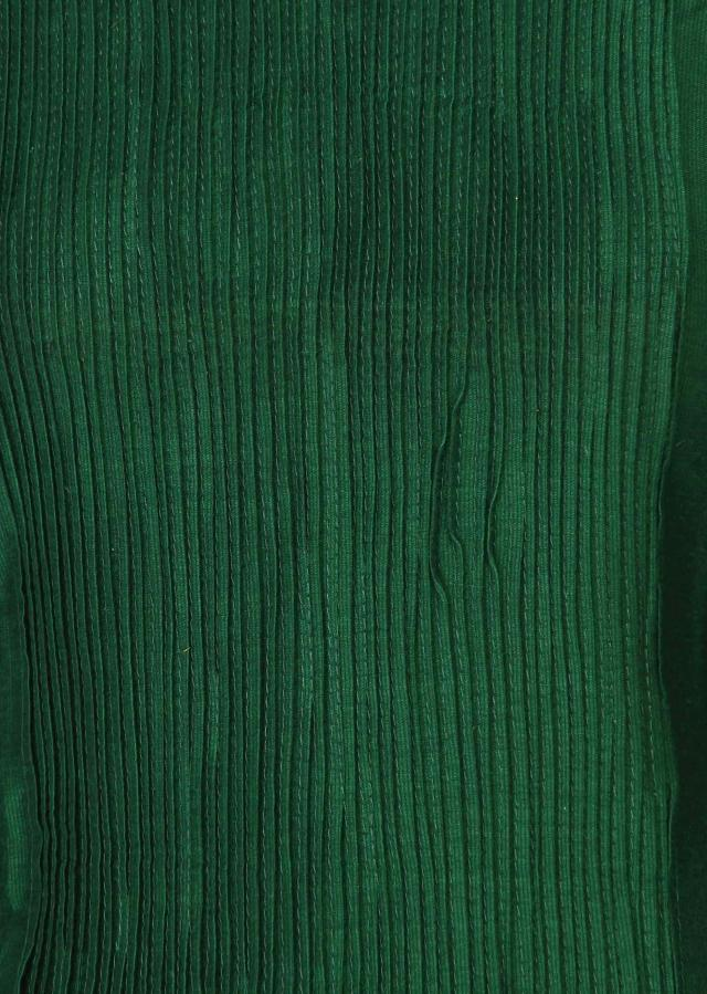 Green kurti features with pin tucks only on Kalki