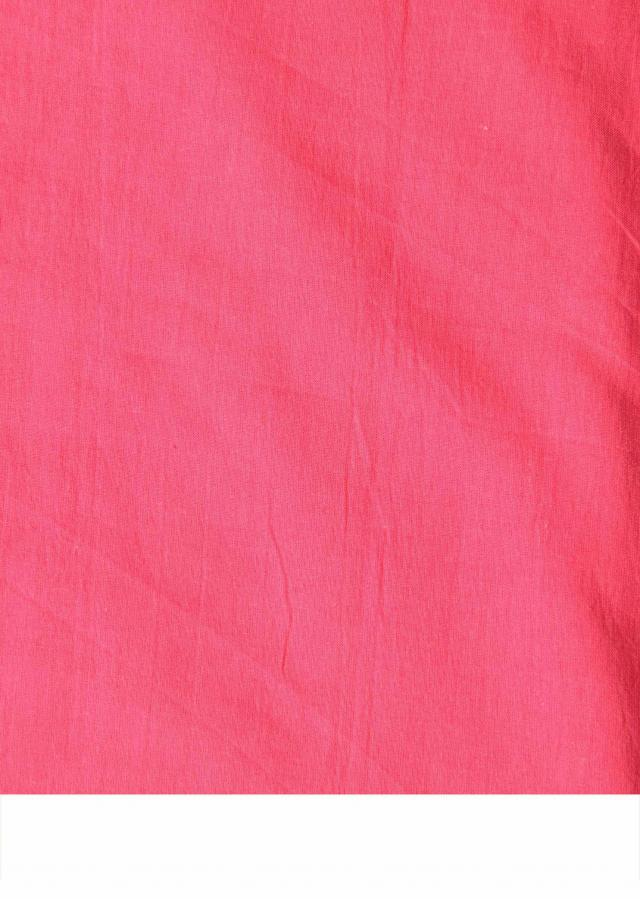 Hot pink semi-stitched silk salwar kameez in resham and print only on Kalki