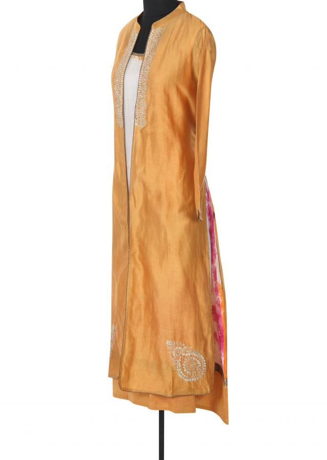 Multi color tunic with embroidered jacket only on Kalki