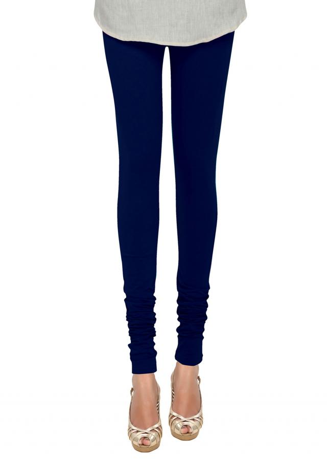 Skin Fit Navy Blue Cotton Hosiery Legging only on Kalki