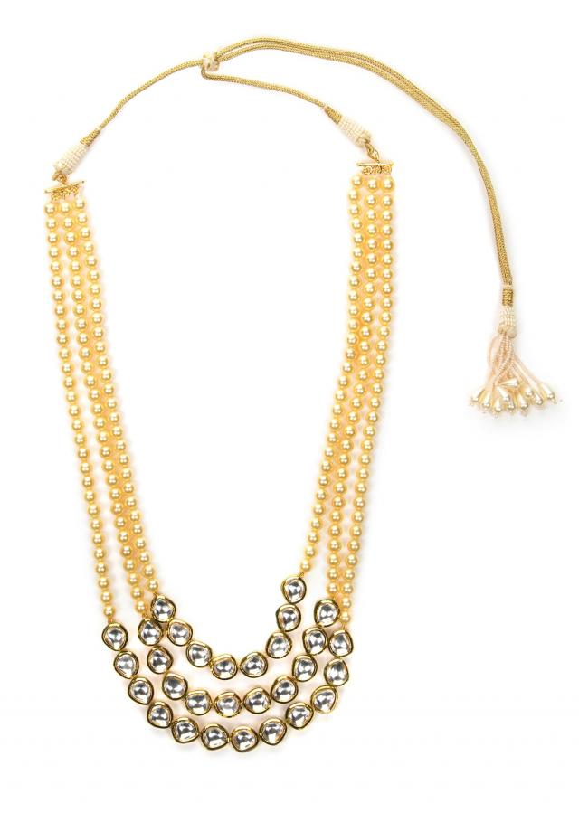 Off-White pearl and kundan necklace only on Kalki