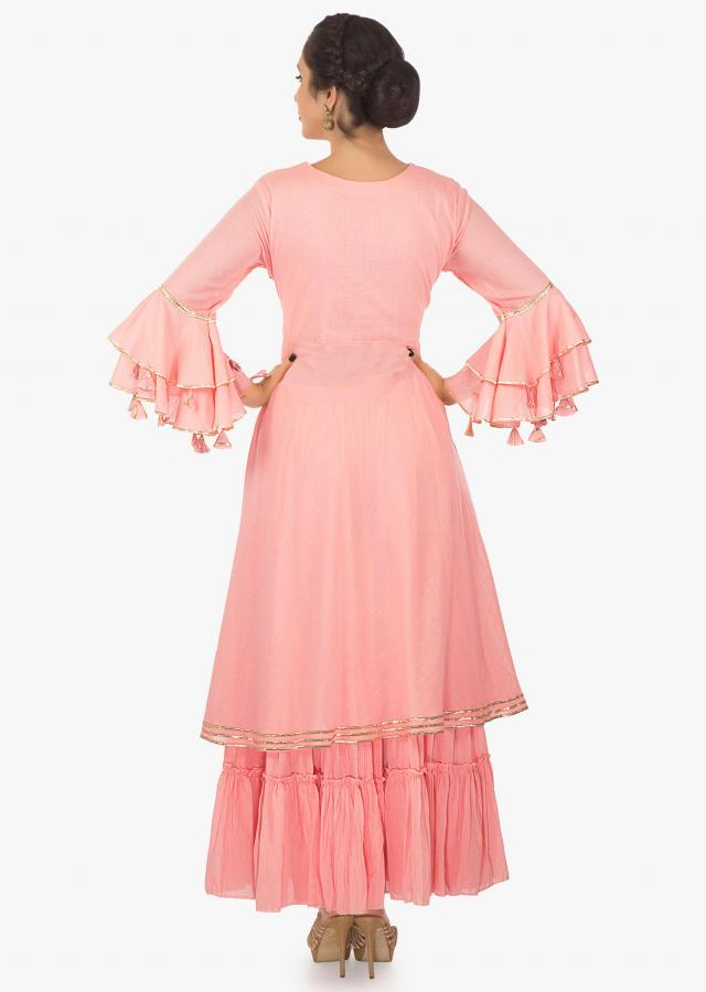 Peach kurti  matched with peach cotton   skirt only on kalki
