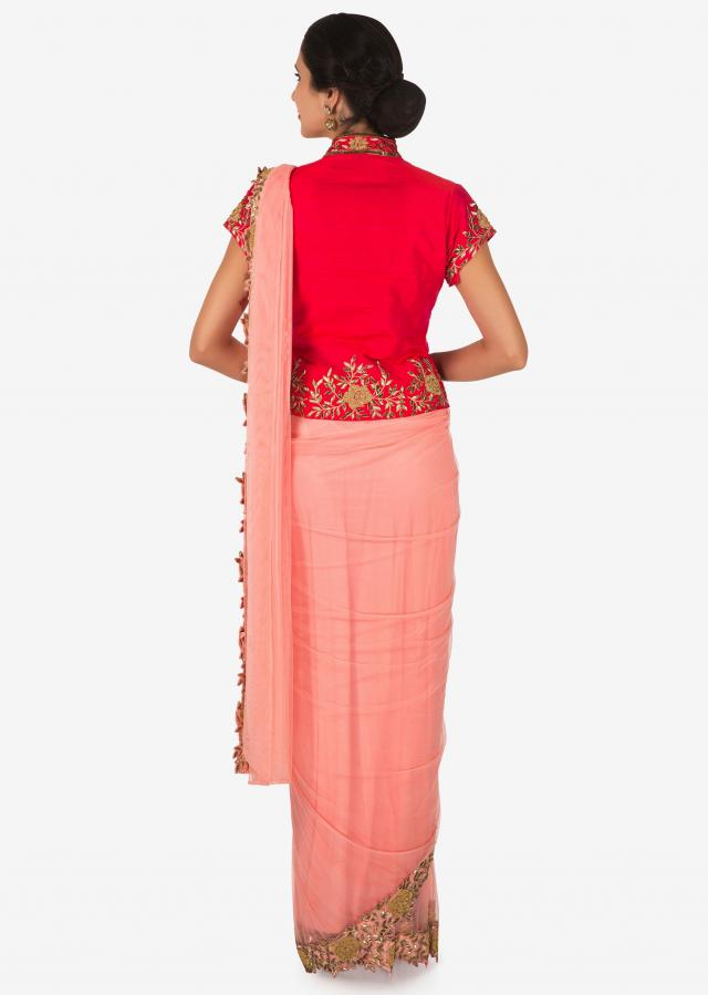 Rani pink ready blouse only on Kalki