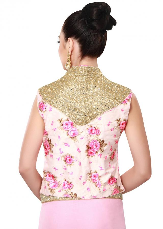 Pink saree featuring in sequin embellished blouse only on Kalki