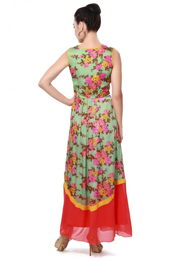 Pista green kurti enhanced in pleats only on Kalki