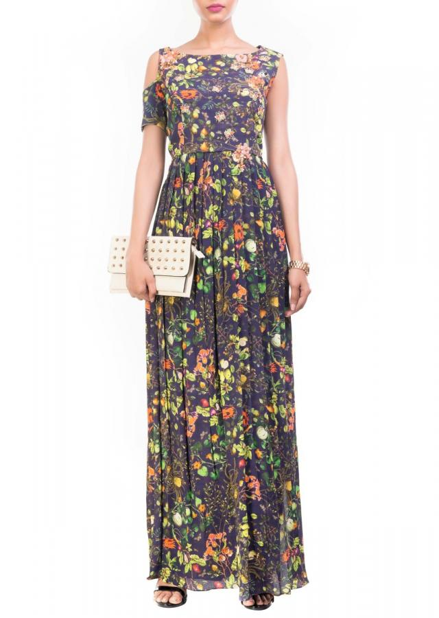 Printed High Slit Maxi