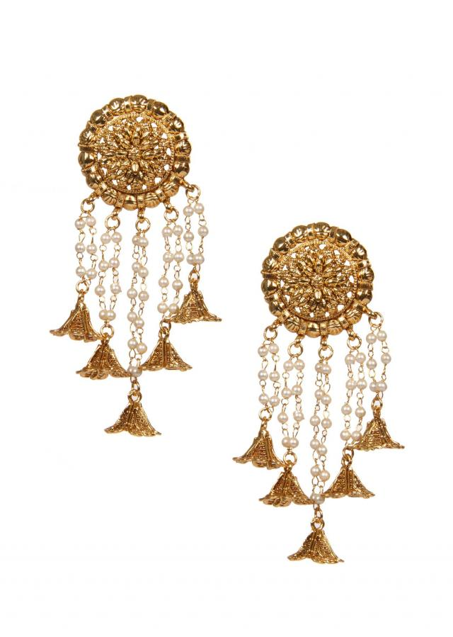Antique Earrings Studded With Dangler