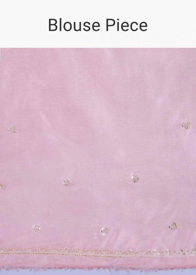 Rose Pink Saree In Silk With Salli Fringes On The Pallu Online - Kalki Fashion