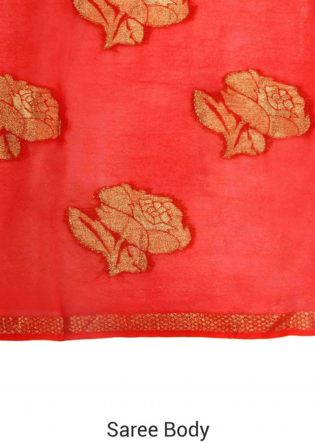 Shaded saree adorn in weaved butti only on Kalki