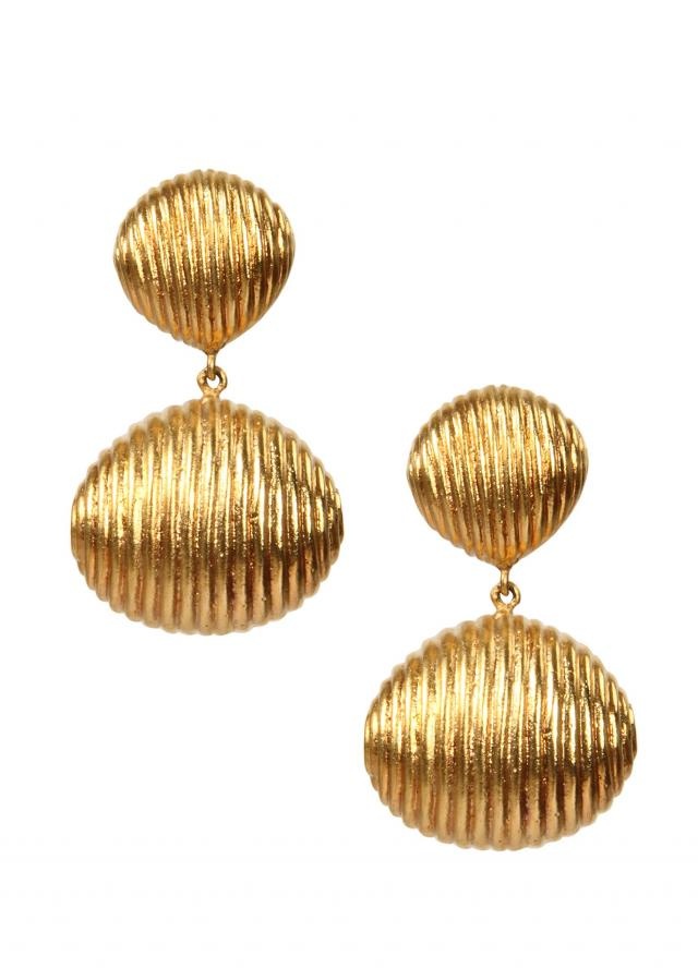 Textured Gold Danglers