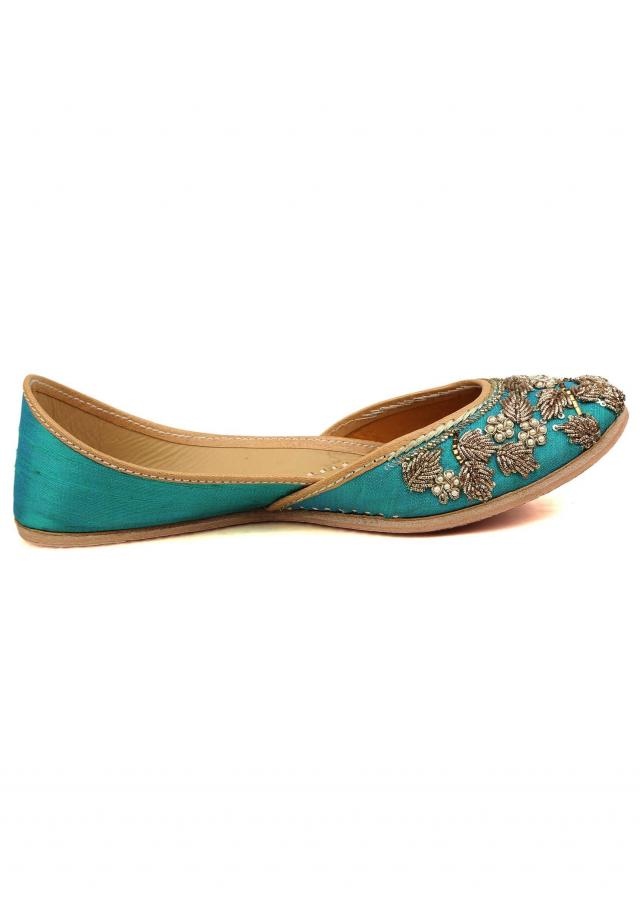 Turq blue jutti from Kalki Festive collection