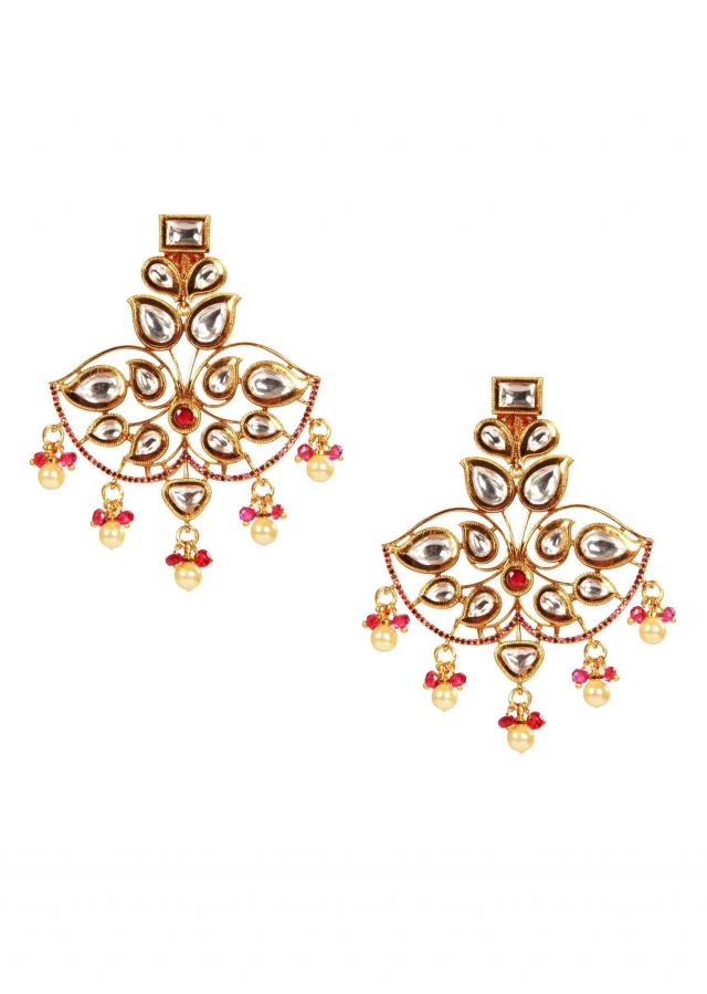 Victorian polki danglers earrings by Ra Abta for Kalki