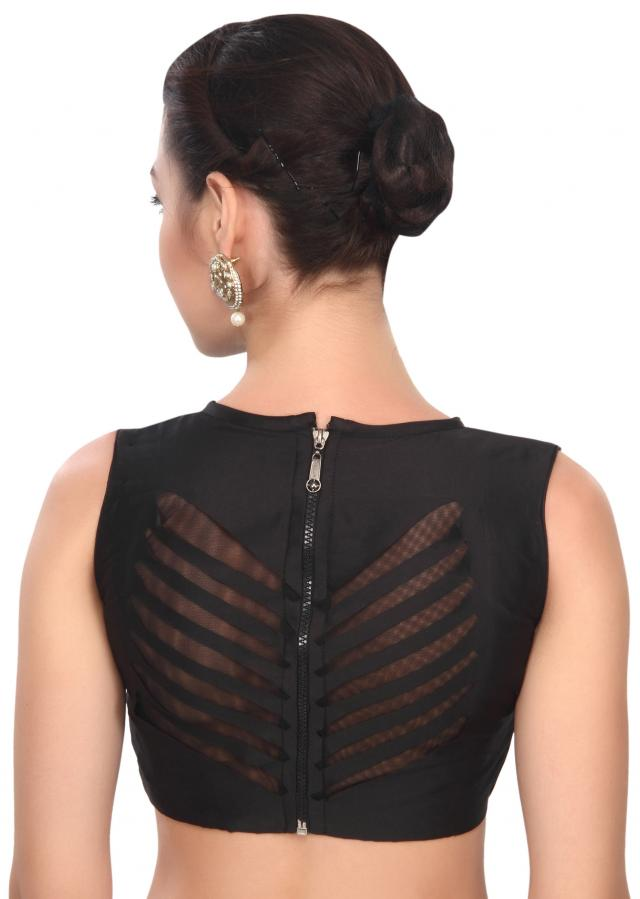 Western style black laser cut blouse only on Kalki