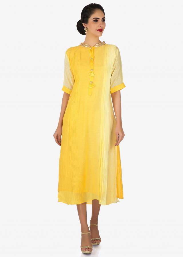 Yellow kurti with jacket featured in gotta patch and work only on Kalki